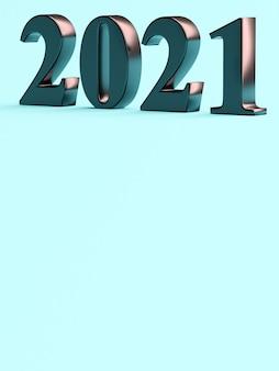 Номер 2021 нового года на синем