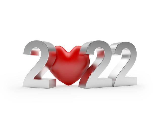 Номер 2022 новый год с красным сердцем i