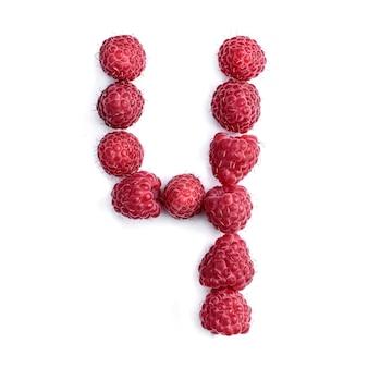 Номер 4 из красной спелой малины