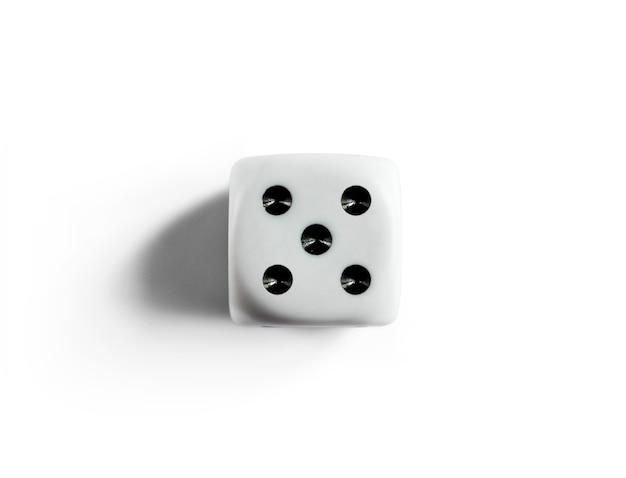 Номер 5 на чистых кубиках. вид сверху.