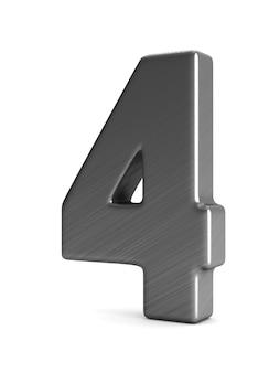 Номер четыре на белом фоне. изолированная 3-я иллюстрация