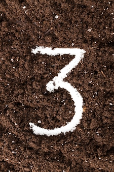 Number from ground coffee