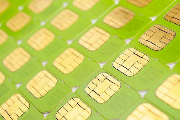 녹색 sim 카드 수