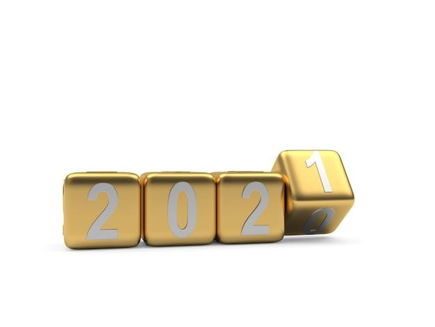 Число на золотых кубиках