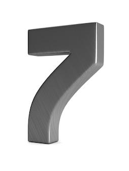 Номер семь на белом фоне. изолированная 3-я иллюстрация