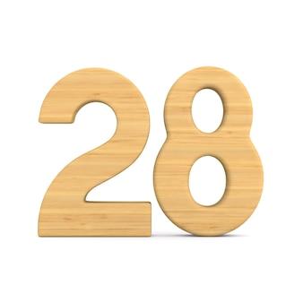 Number twenty eight on white