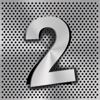 Number two abstract texture background
