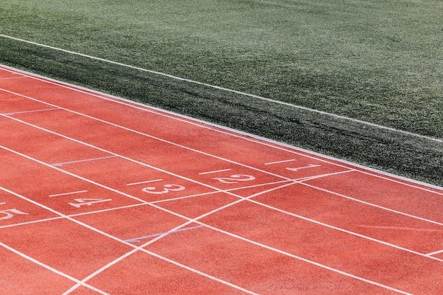 달리기 트랙 출발선의 숫자