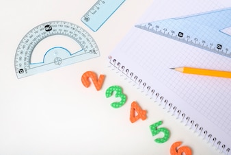 Numbers lying near stationery