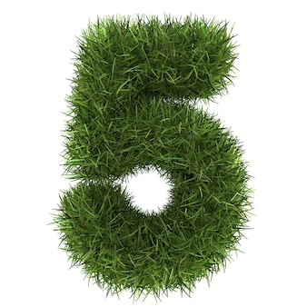 Номера из травяного газона изолированные