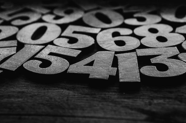 숫자 텍스처. 금융 데이터 개념. 메이트 매틱