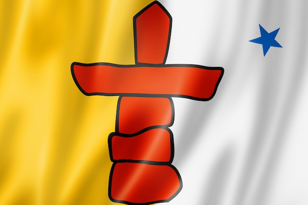 Nunavut inuit people ethnic flag, north america