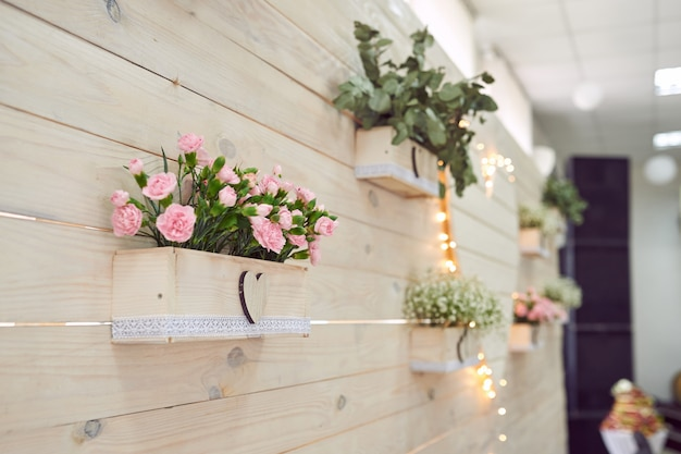 Nuptial decoration on the wall