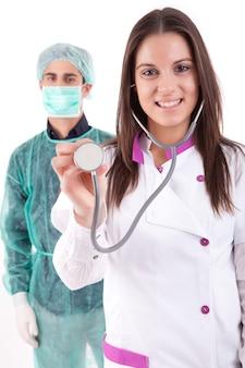 Медсестра и медик