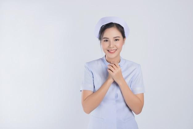 ホワイトスペース、アジアの女性の看護師