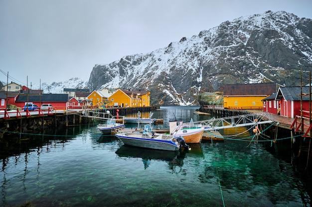 노르웨이 nusfjord 어촌 마