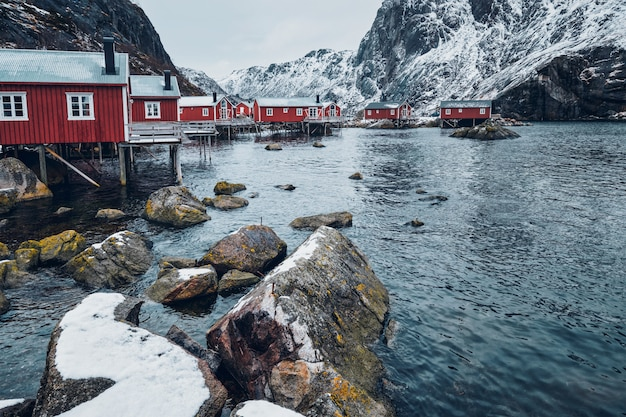Nusfjord fishing village in norway