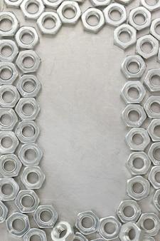 금속 벽 텍스처에 너트 도구