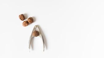 Nutcracker with walnut on table
