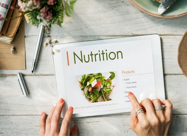 영양 건강한 다이어트 계획 개념