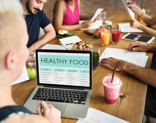 Nutrition and healthy food concept