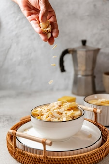 영양가있는 아침 식사 모듬