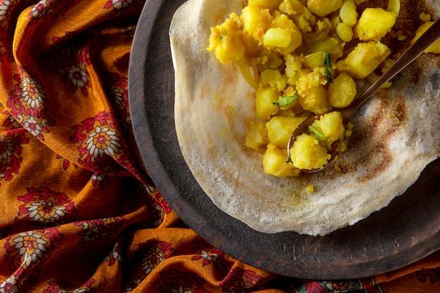 栄養価の高いインドのドーサアレンジメント