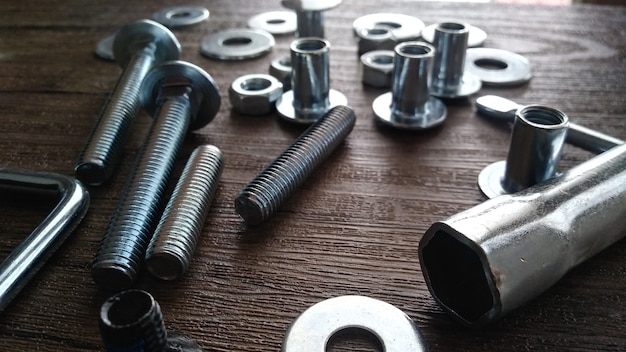 Nuts and bolts screw washer zinc heap chrome