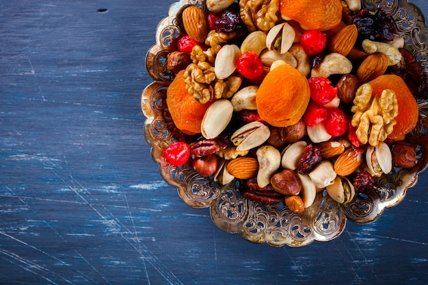 Nuts and dried fruit mix.