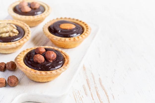 Nutty chocolate dessert small tarts