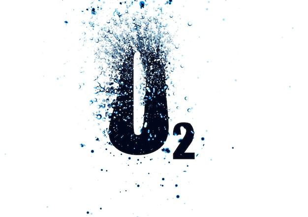 O2 background illustration  chemical elemen