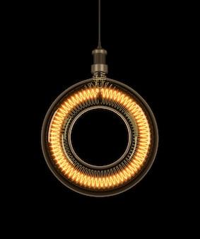 電球でできたアルファベットo。