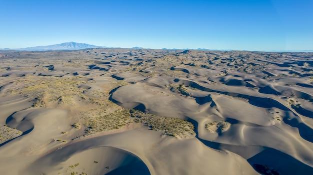 Oasis in sand dunes in mendoza, argentina