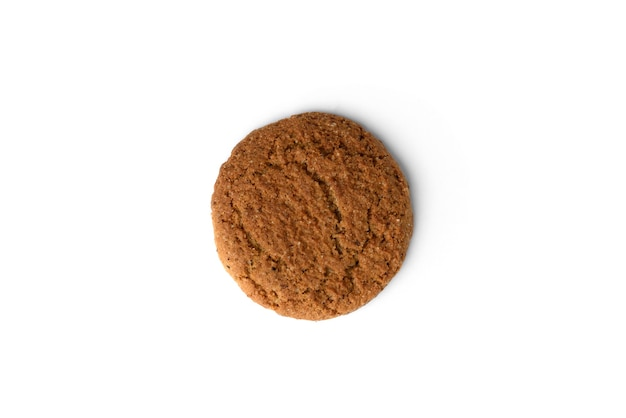 Овсяное печенье, изолированные на белом фоне.