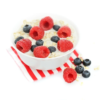 Oat flakes blueberry and raspberry