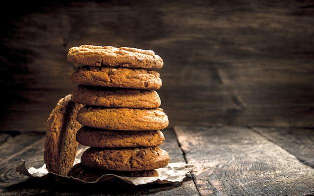 オーツ麦の新鮮なクッキー