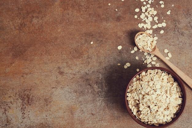 Oatmeal on a bowl