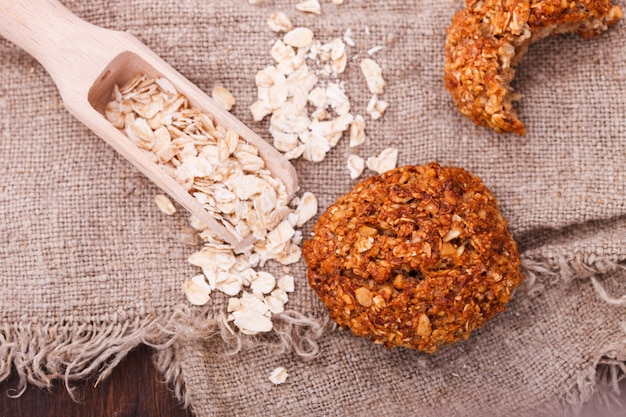 Oatmeal liver with hazelnuts and dried cranberries