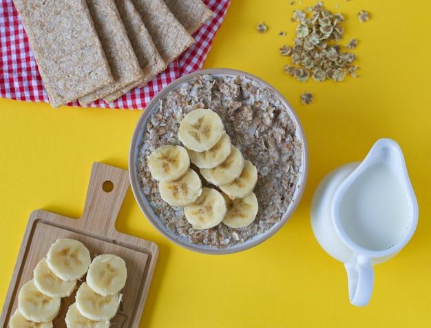 バナナとオートミールのお粥