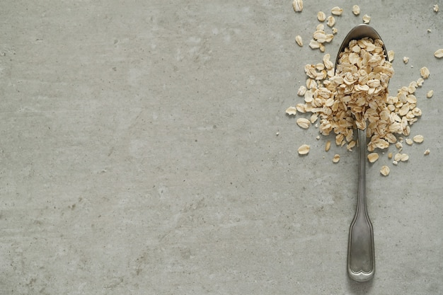Oatmeal and spoon