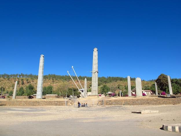 Обелиски в городе аксум, эфиопия