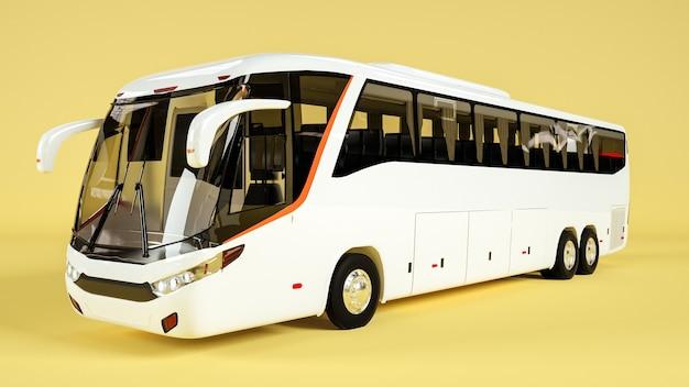 Косая сторона автобуса для демонстрации макета. рендеринг