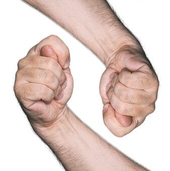 Непристойные жесты. два инжира, изолированные на белом фоне.