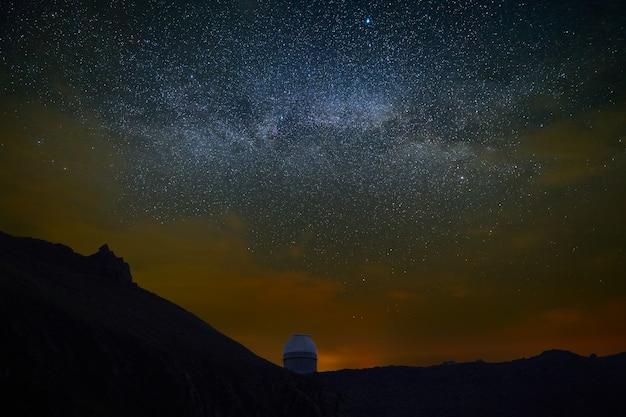 夜の星空の観測