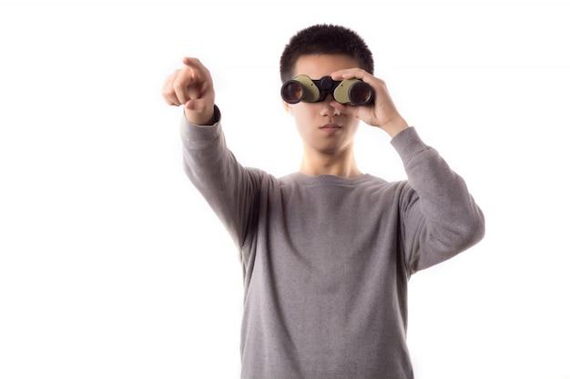 Osservare distanza tecnologia ottica ritratto
