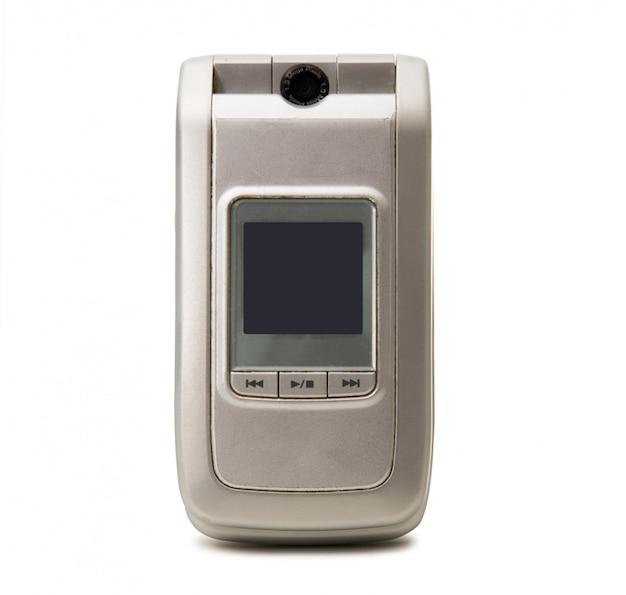 Obsolete cellphone on white