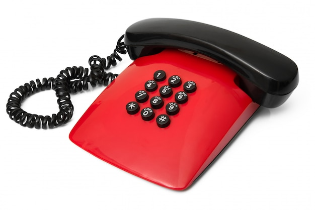Obsolete phone on white