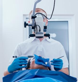 신경 치료 중 근관 폐쇄