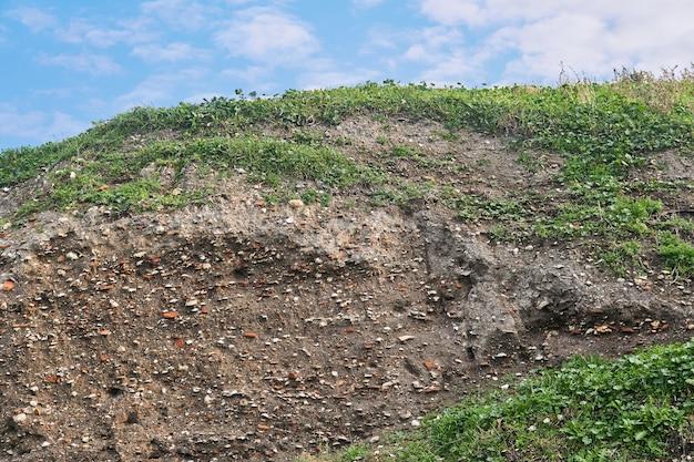 Земля для занятий - отложения под слоем дерна на месте древнего поселения, содержащие ракушки и черепки глиняной посуды.