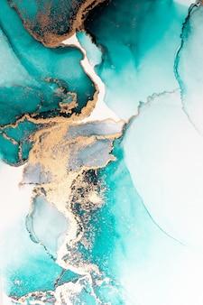 海洋蓝色抽象背景的大理石水墨艺术画在纸上。